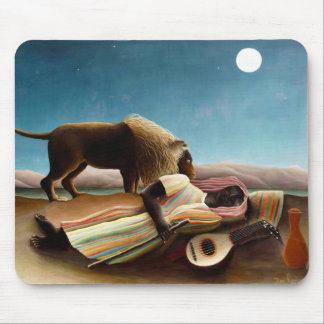 Henri Rousseau The Sleeping Gypsy Mouse Pad