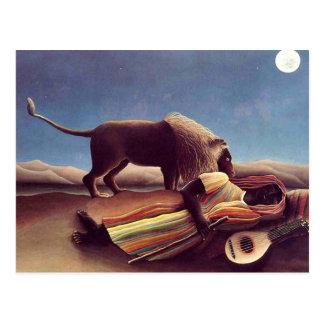 Henri Rousseau - The Sleeping Gypsy Postcard