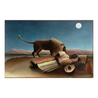 Henri Rousseau The Sleeping Gypsy Poster