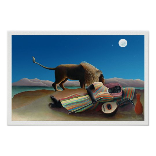 Henri Rousseau - The Sleeping Gypsy Poster