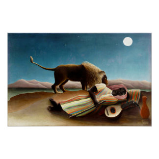 Henri Rousseau The Sleeping Gypsy Poster