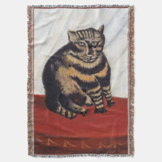 Henri Rousseau - The Tiger Cat ( Le Chat Tigre ) Throw Blanket