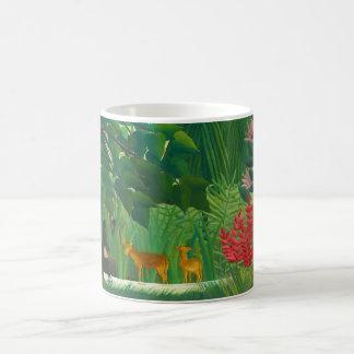 Henri Rousseau The Waterfall Coffee Cup Basic White Mug