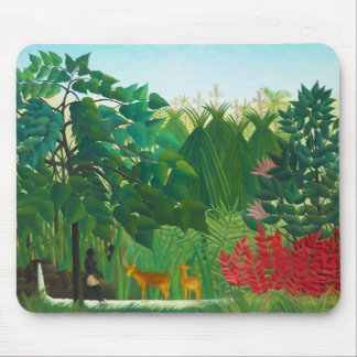Henri Rousseau The Waterfall Mouse Pad