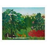 Henri Rousseau The Waterfall Poster