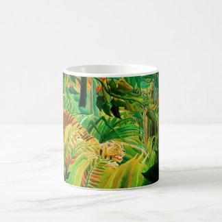 Henri Rousseau Tiger in a Tropical Storm Basic White Mug