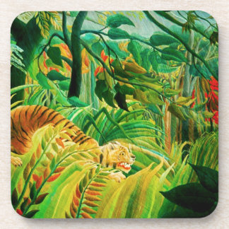 Henri Rousseau Tiger in a Tropical Storm Coasters
