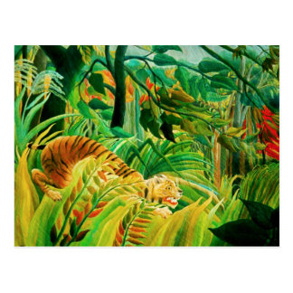 Henri Rousseau Tiger in a Tropical Storm Postcard