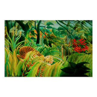 Henri Rousseau Tiger in a Tropical Storm Poster