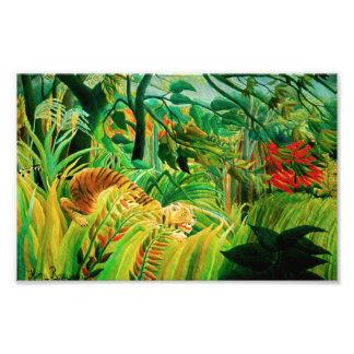 Henri Rousseau Tiger in a Tropical Storm Print