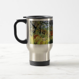 Henri Rousseau- Tiger in a Tropical Storm Stainless Steel Travel Mug