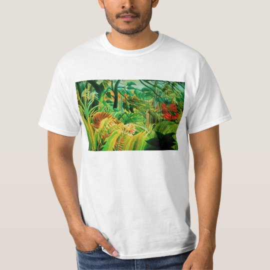 Henri Rousseau Tiger in a Tropical Storm T-shirt