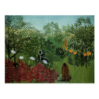 Henri Rousseau-Tropical Forest with Apes and Snake Postcards