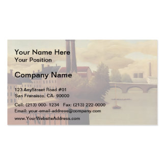 Henri Rousseau- View of the Outskirts of Paris Business Card Template