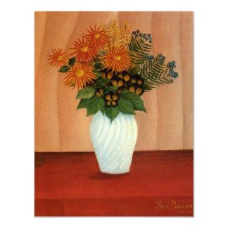 "Henri Rousseau's Bouquet of Flowers (circa 1900) 4.25"" X 5.5"" Invitation Card"