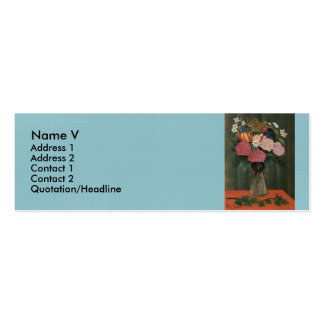 Henri Rousseau's Flowers in a Vase (1909) Pack Of Skinny Business Cards