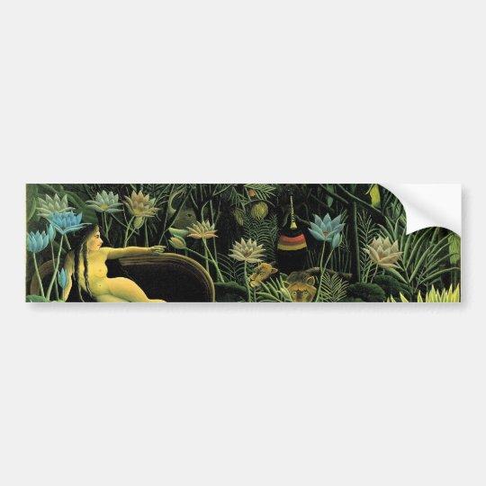 Henri Rousseau's The Dream (1910) Bumper Sticker