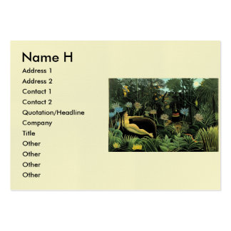 Henri Rousseau's The Dream (1910) Pack Of Chubby Business Cards