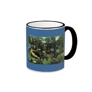 Henri Rousseau's The Dream (1910) Ringer Mug