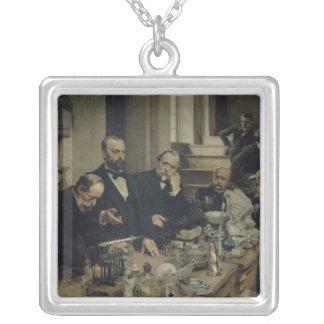 Henri Sainte-Claire Deville  Lecturing, 1890 Silver Plated Necklace