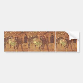 Henri Toulouse-Lautrec: Booth of La Goulue Bumper Sticker