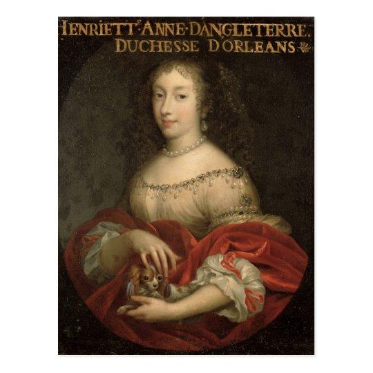 Henrietta Anne  Duchess of Orleans Postcard
