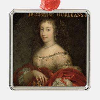 Henrietta Anne  Duchess of Orleans Silver-Colored Square Decoration