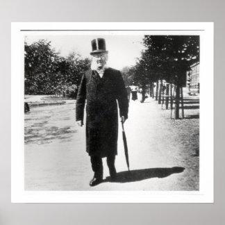 Henrik Ibsen (1828-1906) in Oslo, 1896 (b/w photo) Poster