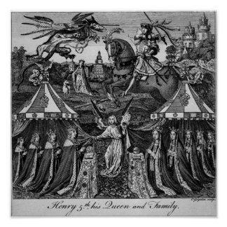 Henry 5th, his Queen and Family Poster