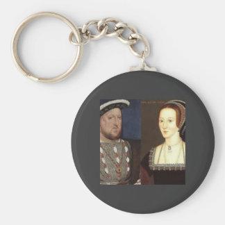 Henry 8th and Anne Boleyn Basic Round Button Key Ring