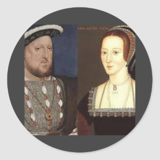 Henry 8th and Anne Boleyn Classic Round Sticker