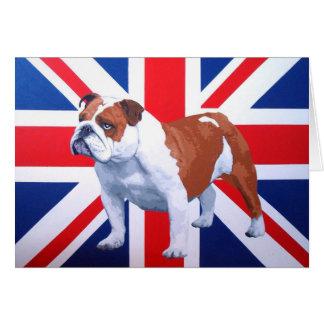 Henry British Bulldog Greeting Card