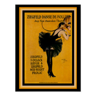 Henry Clive Ziegfeld Danse De Follies Poster