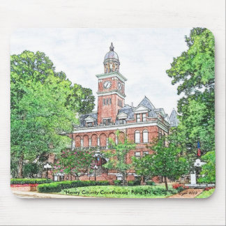 """""""Henry County Courthouse"""" Paris, TN Mouse Pad"""