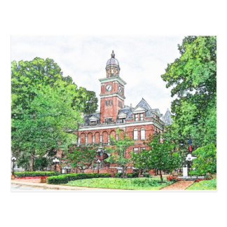 """Henry County Courthouse"" Paris,TN Postcard"