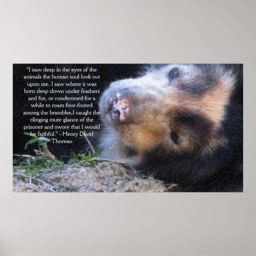 Henry David Thoreau  ANIMAL RIGHTS Quote Print