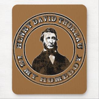 Henry David Thoreau (distressed) Mouse Pad