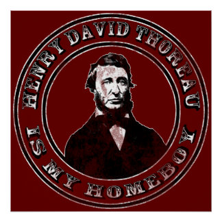 Henry David Thoreau (distressed), print