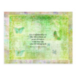 Henry David Thoreau Dream Quote with nature theme Postcard