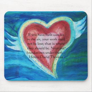 Henry David Thoreau Friendship Quote Mouse Pad