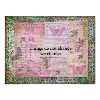 Henry David Thoreau inspirational CHANGE quote Poster