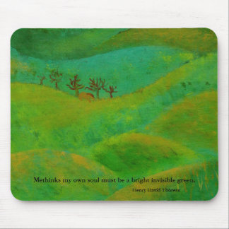 Henry David Thoreau is green Mouse Mat