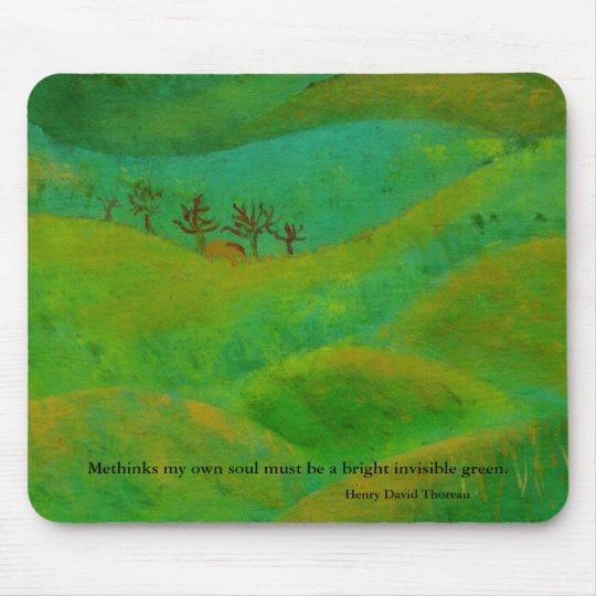 Henry David Thoreau is green Mouse Pad