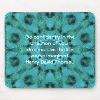 Henry David Thoreau Motivational Dream Quotation Mouse Mat
