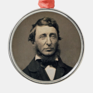 Henry David Thoreau Portrait Maxham daguerreotype Christmas Ornament