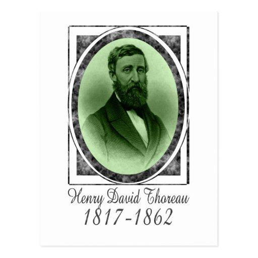 Henry David Thoreau Post Card