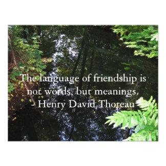 Henry David Thoreau quotation about FRIENDSHIP Personalized Invitations