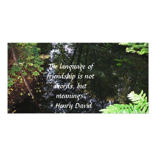 Henry David Thoreau quotation about FRIENDSHIP Photo Greeting Card
