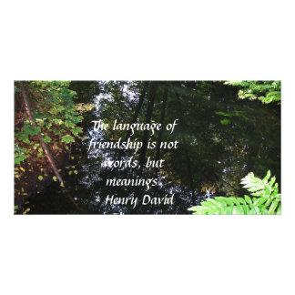 Henry David Thoreau quotation about FRIENDSHIP Picture Card