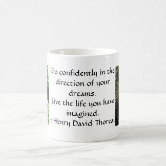 Henry David Thoreau QUOTATION Basic White Mug